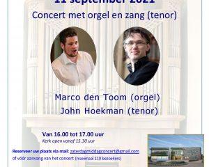 John Hoekman en Marco den Toom in de Fontein te Nijkerk
