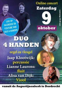 Alisa van Dijk en andere musici samen met Duo 4 handen