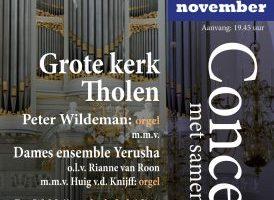 Concert met samenzang voor het van Dam-orgel in Tholen
